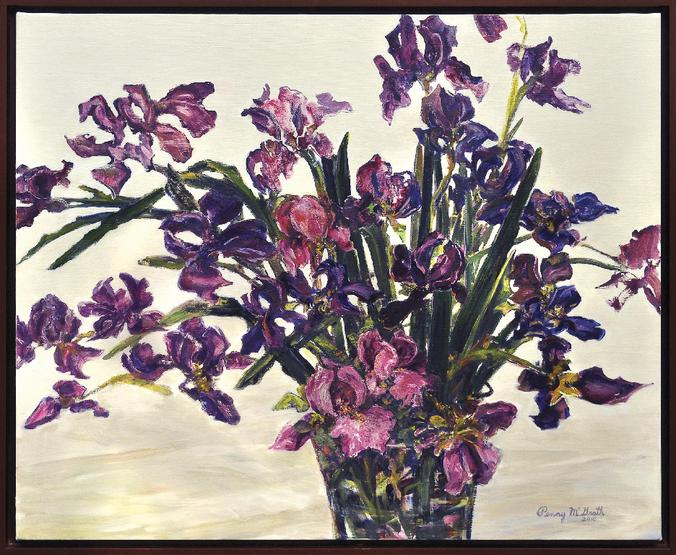"IRIS Medium- Oil on Canvas Size- 30"" x 36"" Sold"